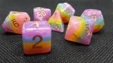 d4f Würfelset Creamy Rainbow