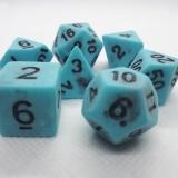 d4f Würfelset Antique Blue