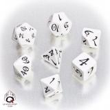 QW Classic Dice Set White Black